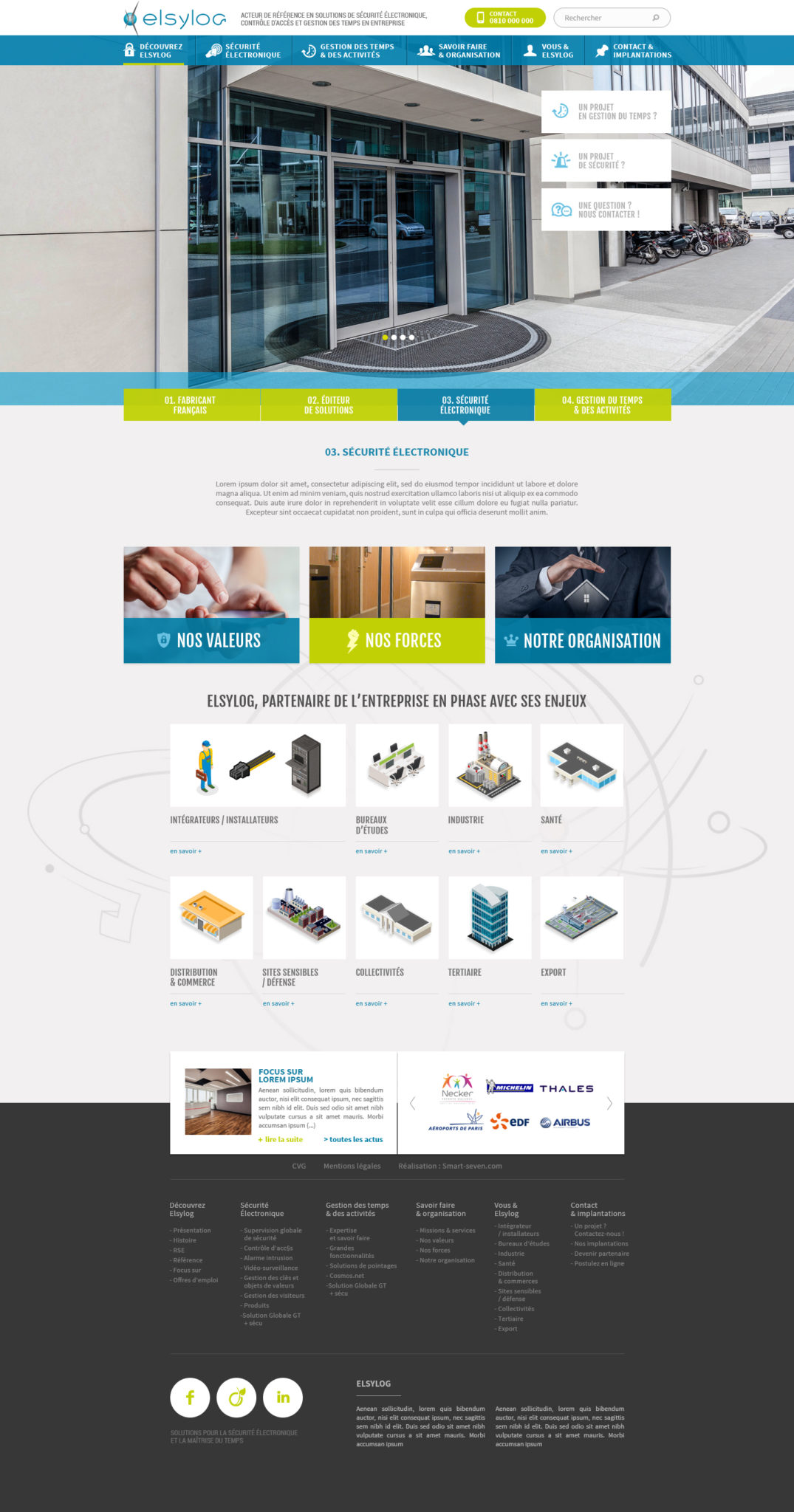 Elsylog maquette home page création site internet