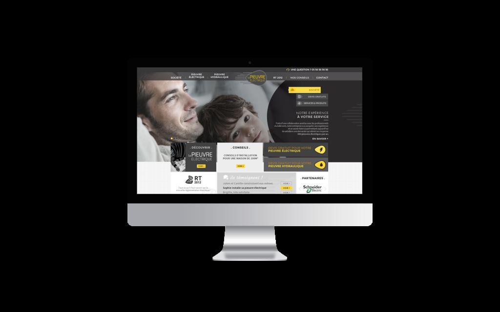 Création de site internet pour La pieuvre électrique iMac Mockup