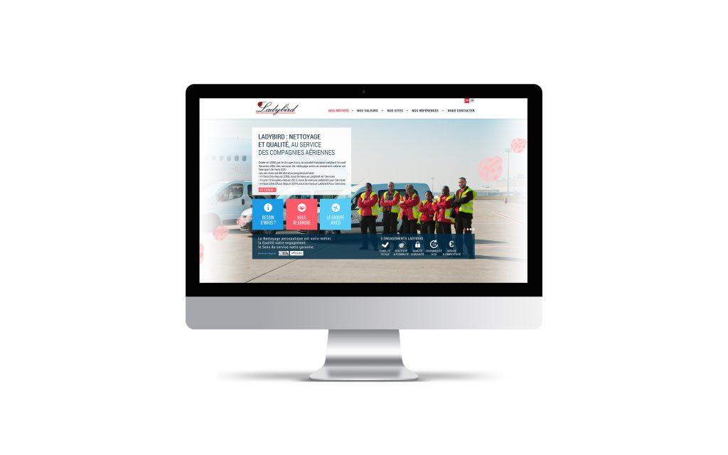 Création de site internet pour Ladybird - Mockup Imac