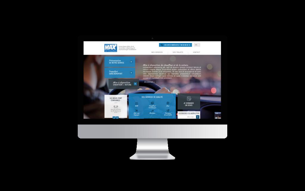 Création de site internet pour Max le chauffeur - iMac Mockup