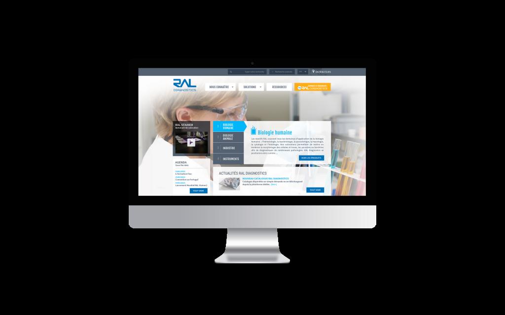 Ral Diagnostics iMac Mockup création site internet