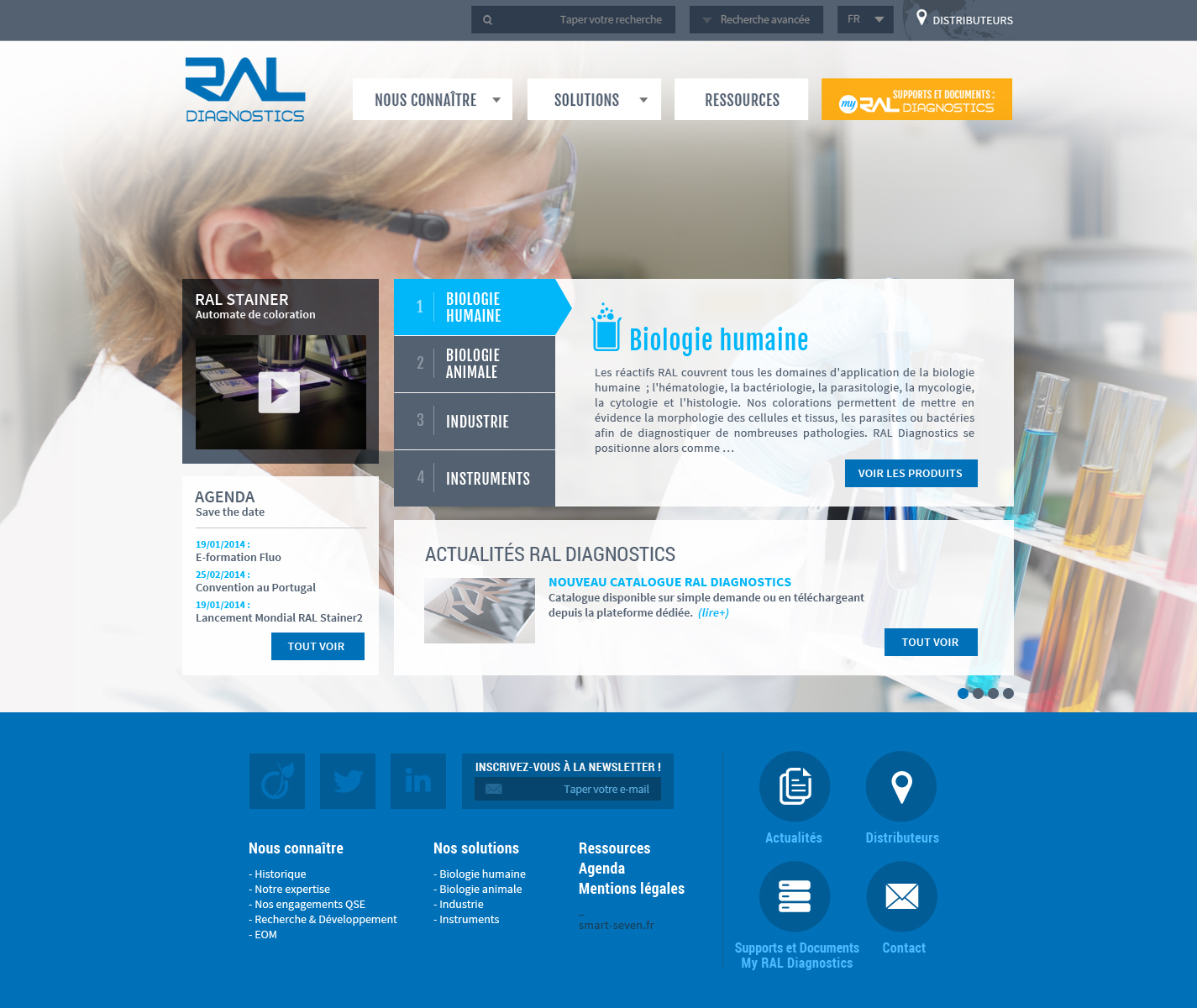 Ral Diagnostics maquette home page création site internet