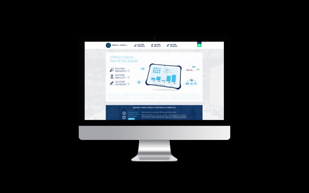 Création de site internet pour Simple Check iMac Mockup
